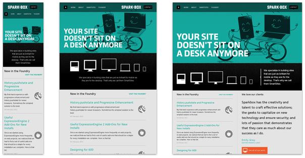 Ukázka responsivního designu.
